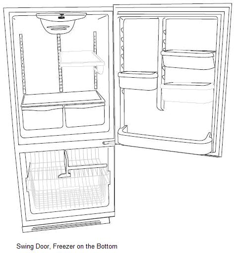 fridge image inside with door
